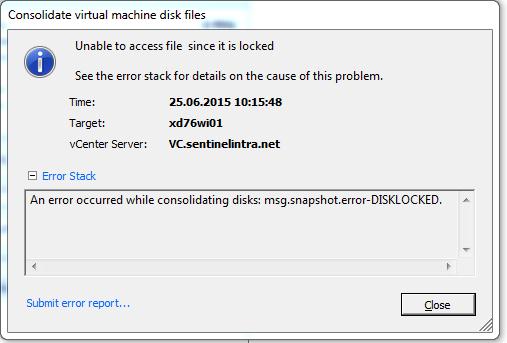 Consolidating snapshots windows 7 vmware